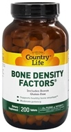 Country Life - Bone Density Factors - 200 Tablets Formerly Biochem (015794015987)