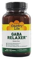 Country Life - GABA Relaxer Free Form Amino Acid Supplement with Vitamin B-6 Rapid Release - 90 Tablets
