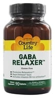 Country Life - GABA Relaxer Free Form Amino Acid Supplement with Vitamin B6 Rapid Release - 90 Tablets