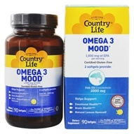 Country Life - Omega 3 Mood Fish High EPA Mood Supporting Formula - 90 Softgels by Country Life