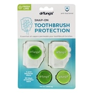 Snap-On Toothbrush Protection + 4 Anti-Bacterial Refill Discs - 2 Piece(s)