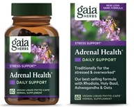 Gaia Herbs - Adrenal Health Daily Support Liquid Phyto-Caps - 60 Vegan Caps