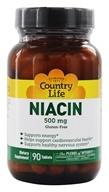 Country Life - Niacin 500 mg. - 90 Tablets, from category: Vitamins & Minerals