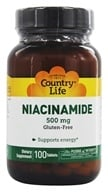 Country Life - Niacinamide 500 mg. - 100 Vegetarian Tablets