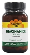 Country Life - Niacinamide 500 mg. - 100 Vegetarian Tablets by Country Life