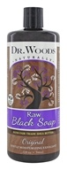 Dr. Woods - Liquid Raw Black Soap with Fair Trade Shea Butter Original - 32 oz.