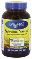 Earthrise - Spirulina Natural Green Super Food For Longevity 500 mg. - 180 Tablets
