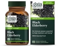Gaia Herbs - Black Elderberry Liquid Phyto Capsules - 60 Vegetarian Capsules, from category: Herbs