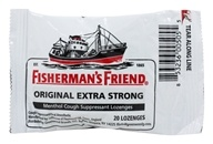 Image of Fisherman's Friend - Menthol Cough Suppressant Lozenges Original Extra Strong - 20 Lozenges