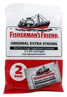 Fisherman's Friend - Menthol Cough Suppressant Lozenges Original Extra Strong 2 Pack - 40 Lozenges (073621006478)
