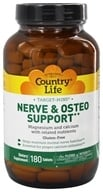 Country Life - Target-Mins Nerve and Osteo Support - 180 Vegetarian Tablets (015794024972)
