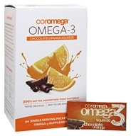 Coromega - Omega-3 Squeeze Orange With a Hint of Chocolate - 90 Packet(s) - $29.99