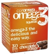 Coromega - Omega-3 Squeeze Orange with a Hint of Chocolate - 30 Packet(s) CLEARANCE PRICED