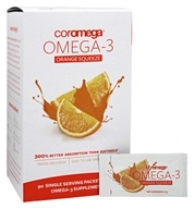 Coromega - Omega-3 Squeeze Original Orange - 90 Packet(s) by Coromega