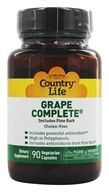 Country Life - Grape Complete with Pine Bark - 90 Capsules by Country Life