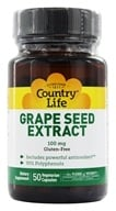 Country Life - Grape Seed Extract 100 mg. - 50 Vegetarian Capsules by Country Life