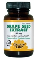 Country Life - Grape Seed Extract 50 mg. - 50 Vegetarian Capsules CLEARANCE PRICED