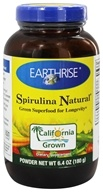 Image of Earthrise - Spirulina Natural Green Super Food For Longevity Powder - 6.3 oz.