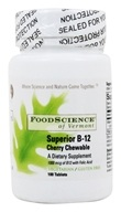 Image of FoodScience of Vermont - Sublingual B12 Cherry Chewables 1000 mcg. - 100 Vegetarian Tablets Formerly MC