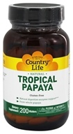 Country Life - Natural Tropical Papaya 25 mg. - 200 Chewable Wafers (015794053835)