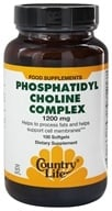 Country Life - Phosphatidyl Choline Complex 1200 mg. - 100 Softgels (015794045519)