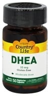 Image of Country Life - DHEA Dehydroepiandrosterone 10 mg. - 50 Vegetarian Capsules Formerly by Biochem