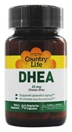 Image of Country Life - DHEA Dehydroepiandrosterone 25 mg. - 90 Vegetarian Capsules Formerly Biochem