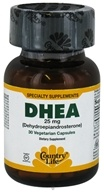 Country Life - DHEA Dehydroepiandrosterone 25 mg. - 30 Vegetarian Capsules Formerly Biochem