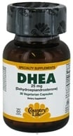 Image of Country Life - DHEA Dehydroepiandrosterone 25 mg. - 30 Vegetarian Capsules Formerly Biochem