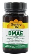Country Life - DMAE Coenzymized with PAK and Pantothenic Acid 350 mg. - 50 Vegetarian Capsules Formerly Biochem by Country Life