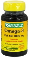 Good 'N Natural - Omega-3 Fish Oil 1000 mg. - 50 Softgels - $2.72