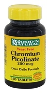 Good 'N Natural - Chromium Picolinate Yeast Free 200 mcg. - 100 Tablets