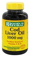Good 'N Natural - Cod Liver Oil 1000 mg. - 60 Softgels - $3.18