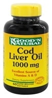 Good 'N Natural - Cod Liver Oil 1000 mg. - 60 Softgels by Good 'N Natural