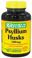 Good 'N Natural - Psyllium Husks 500 mg. - 200 Capsules (074312432415)