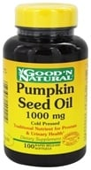 Good 'N Natural - Pumpkin Seed Oil 1000 mg. - 100 Softgels, from category: Nutritional Supplements