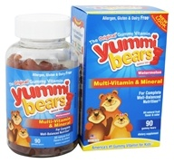 Hero Nutritional Products - Yummi Bears Children's Multi-Vitamin & Mineral Watermelon - 90 Gummies (613098631508)