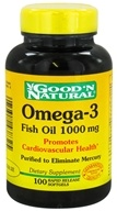 Good 'N Natural - Omega-3 Fish Oil 1000 mg. - 100 Softgels (074312438325)