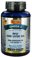 Image of Health From The Sun - PFO Pure Cod Liver Oil Capsules - 90 Fish Softgel(s)