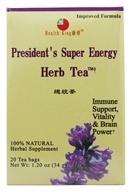 Health King - President's Super Energy Herb Tea - 20 Tea Bags - $5.10