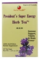 Health King - President's Super Energy Herb Tea - 20 Tea Bags (646322000016)