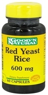 Good 'N Natural - Red Yeast Rice 600 mg. - 60 Capsules - $8.50