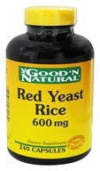 Good 'N Natural - Red Yeast Rice 600 mg. - 240 Capsules - $21.95