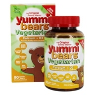 Hero Nutritional Products - Yummi Bears Vegetarian Calcium + Vitamin D3 Sour - 90 Gummies by Hero Nutritional Products