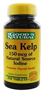 Good 'N Natural - Sea Kelp 150 mcg of Natural Source Iodine - 250 Tablets (074312406232)