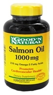 Good 'N Natural - Salmon Oil with Omega-3 Fatty Acids 1000 mg. - 120 Softgels (074312444616)