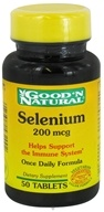 Good 'N Natural - Selenium 200 mcg. - 50 Tablets, from category: Vitamins & Minerals