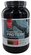 Iron Tek - Essential Natural High Protein with Micellar Casein Chocolate Fudge - 2.3 lbs. - $25.99