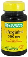 Good 'N Natural - L-Arginine 500 mg. - 50 Capsules (074312400902)