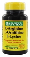 Good 'N Natural - L-Arginine L-Ornithine L-Lysine - 50 Tablets (074312439421)